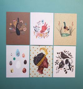 SET KOLLEKTION 2021/2 Postkarten 6 Stück
