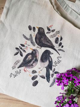Stoffbeutel BLACK BIRDS