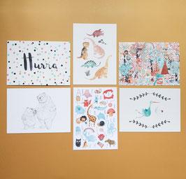 SET BABY Postkarten 6 Stück