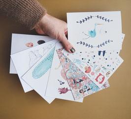SET BABY Postkarten 8 Stück