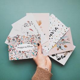 SET GEBURTSTAG Postkarten 7 Stück