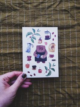 NEU Postkarte BEARISTA