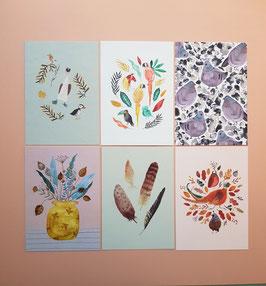 SET KOLLEKTION 2021/1 Postkarten 6 Stück
