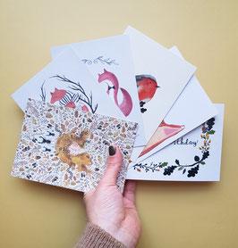 SET HERBST Postkarten 6 Stück