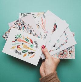 SET SOMMER Postkarten 8 Stück