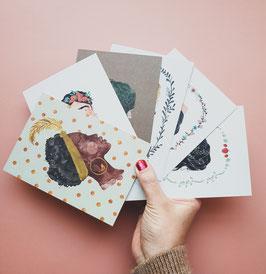 SET GIRLS Postkarten 6 Stück