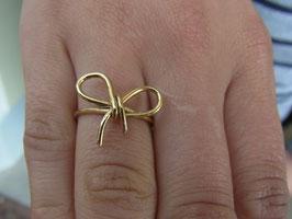 """Ring """"Schleife"""" (vergoldet)"""