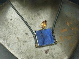 Collier Lapis-Lazuli/Palmeracitrin