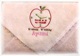 ピンク りんご柄 女の子用 英語のお名前