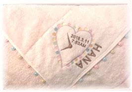 ピンク ハート柄 女の子用 英語のお名前