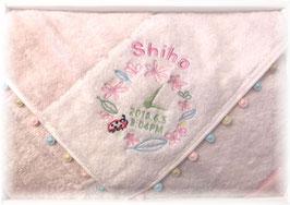 ピンク てんとうむし柄 女の子用 英語のお名前