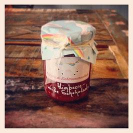 Glitzernde Einhornmarmelade: Himbeer-Weiße Schokolade, Himbeere-Pfirsich (220g)