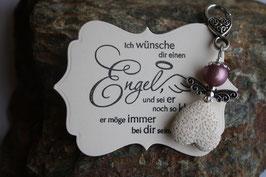 Schutzengel Anhänger mit Lava Perle lilac white (4)