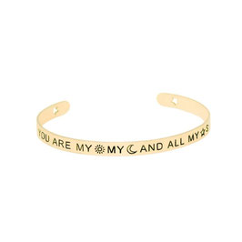 "Armreifen ""You Are my my and all my star"" (gold)"