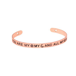 "Armreifen ""You Are my my and all my star"" (rosegold)"