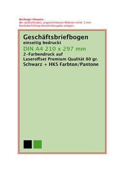 Briefbogen im Offset 2-Farben Druck - Für ihren Laserdrucker garantiert geeignet!