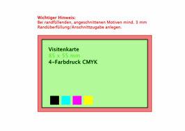 Visitenkarten - einseitig farbig bedruckt (4c CMYK)