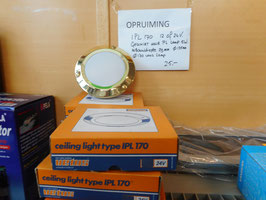 Vetus  plafondlamp IPL 170 12 of 24 volt