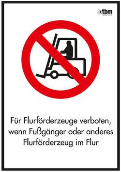 Verkehrszeichen VZ-107 für Flurförderfahrzeuge verboten