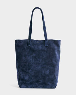 Baggu (USA) Basic Tote Bag Leather Midnight Blue