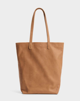 Baggu (USA) Basic Tote Bag Leather Saddle