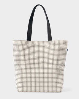 Baggu (USA) Canvas Shopper Natural Grid