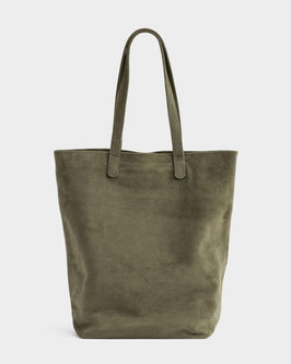 Baggu (USA) Basic Tote Bag Leather Olive