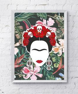 Frida Dschungel Poster Design Plakat Kunstdruck