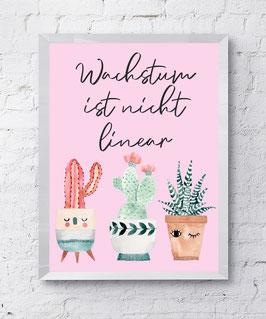 Poster Wachstum Pink Poster Design Plakat Kunstdruck