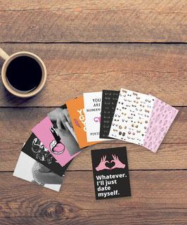 Postkarten Set - Feminist