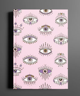 Notizbuch All Eyes Rosa