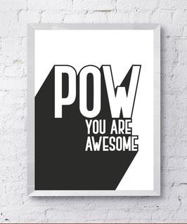 Feminist POW Poster Design Plakat Kunstdruck