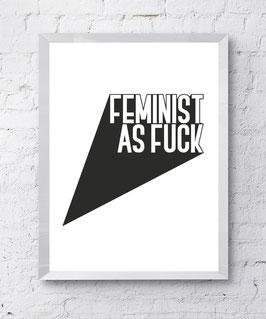 Feminist AF Poster Design Plakat Kunstdruck