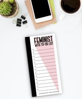 To Do Liste - Feminist Pink