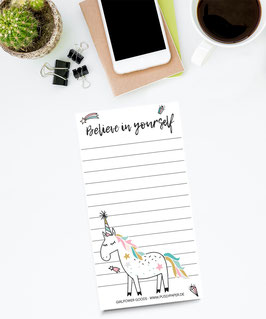 To Do Liste - Believe in Unicorns