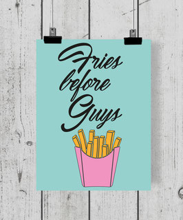 Poster Fries Poster Design Plakat Kunstdruck
