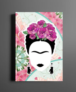 Frida Pink Flowers DINA5 Notizbuch