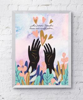 Leere Hänse Plakat Kunstdruck