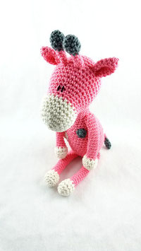 Hilda, die Giraffe rosa