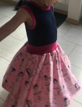"""Drehkleid """"Kleine Ballerinakleid"""" ohne Ärmel, mit Bünchen am Bauch aus kbA (bio) Baumwolle"""