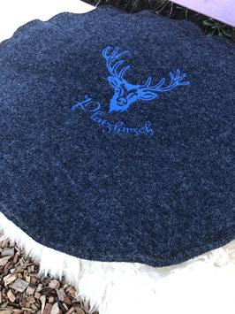 großes Sitzkissen aus Wollwalk (kbT mit Wollvliesfüllung