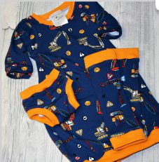 Extra langes Nachthemd - Kurzarm, Stulpen & Unterhosen Set aus kbA (bio) Baumwolle