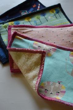 Feuchttücher/Waschlappen aus kbA (bio) Baumwolle - Jersey & Frottee im Überraschungsdesign