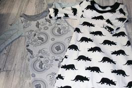 Extra langes Nachthemd, Langarm aus kba (bio) Baumwolle