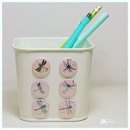 6er Set Magnete - Libellen rosa - 25mm
