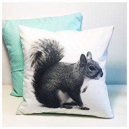 Dekokissen -Eichhörnchen mint- 25cm x 25cm
