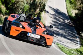 Ca. 15 Minuten oder ca. 30 Minuten 3 Runden KTM X-BOW Renntaxi oder  KTM X-BOW selber fahren, Brünn