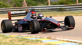 2 Runden, Formel 1 Doppelsitzer Renntaxi, Le Luc  (Frankreich)