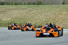Ca. 15 Minuten bis 2,5 Stunden, KTM X-BOW selber fahren und KTM X-BOW Renntaxi Co Pilot, Greinbach