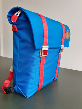 SCHULTASCHE CAT EYES OCEANBLUE-CORAL RED